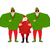santa claus and elves bodyguards christmas santa and guards pr stock photo © popaukropa