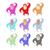 set of colored monkeys funny gorilla cute primacy of different stock photo © popaukropa