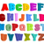 Font children. Colorful alphabet. Letters in child style. Cartoo stock photo © popaukropa