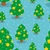 christmas tree with balls seamless pattern winter forest textur stock photo © popaukropa