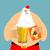 cerveja · caneca · garrafa · isolado · branco · luz - foto stock © popaukropa