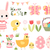 cartoon · roze · Easter · Bunny · ei · jacht · mand - stockfoto © pravokrugulnik