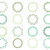 vector collection of round green wreaths for labels invitations stock photo © pravokrugulnik