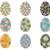 szett · vektor · húsvéti · tojások · húsvét · tojás · piros - stock fotó © pravokrugulnik