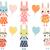 Пасха · вектора · коллекция · Cute · розовый · Bunny - Сток-фото © pravokrugulnik