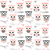 seamless pattern with cartoon owls hearts and branches stock photo © pravokrugulnik