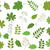 green leaves vector set on white background spring foliage stock photo © pravokrugulnik