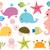 cute sea animals for scrapbooking baby showers and summer stock photo © pravokrugulnik