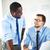 vergadering · zakenlieden · afbeelding · twee · jonge · met · behulp · van · laptop - stockfoto © pressmaster