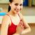 menina · meditando · retrato · menina · feliz · ginásio · esportes - foto stock © pressmaster