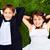 улыбаясь · пару · дети · белый · два · детей - Сток-фото © pressmaster