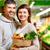 egészséges · boldog · egészséges · étkezés · néz · kamera · család - stock fotó © pressmaster