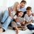 famille · canapé · portrait · famille · heureuse · deux · enfants - photo stock © pressmaster
