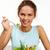 manger · salade · portrait · joli · jeune · fille · fourche - photo stock © pressmaster