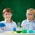 chimie · leçon · fille · homme · école · paysage - photo stock © pressmaster