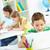écolier · réseau · portrait · puce · lad · travail - photo stock © pressmaster