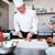 サラダ · キッチン · 白 - ストックフォト © pressmaster
