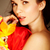 обольщение · великолепный · женщину · цветок · красный · шелковые - Сток-фото © pressmaster
