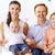 ebeveyn · gülen · çift · küçük · aile · mutluluk - stok fotoğraf © pressmaster