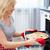 великолепный · женщину · кухне · улыбка · счастливым - Сток-фото © pressmaster