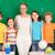успешный · группа · линия · Cute · школьников · глядя - Сток-фото © pressmaster