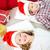 elragadtatott · boldog · lány · karácsony · ajándék · meglepődött · lány - stock fotó © pressmaster