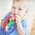 édes · portré · aranyos · csecsemő · játszik · játék - stock fotó © pressmaster