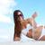 красивой · изображение · женщины · белый · Бикини - Сток-фото © pressmaster