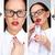 красивой · деловая · женщина · макияж · красная · помада · белый · стороны - Сток-фото © pressmaster