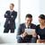 üzletemberek · beszél · kolléga · digitális · tabletta · iroda - stock fotó © pressmaster