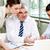 заседание · служба · бизнес-команды · три · сидят · планирования - Сток-фото © pressmaster