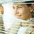 gyönyörű · nő · ki · ablak · iroda · arc · haj - stock fotó © pressmaster
