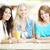 girlfriends in cafe stock photo © pressmaster