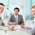 sikeres · üzleti · csapat · boldog · üzletember · előtér · három - stock fotó © pressmaster