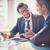 reunión · imagen · dos · jóvenes · empresarios - foto stock © pressmaster