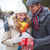ajándék · kép · szeretetteljes · fickó · barátnő · karácsony - stock fotó © pressmaster