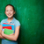 okos · iskolás · lány · portré · aranyos · tankönyvek · néz - stock fotó © pressmaster