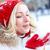 kar · eğlence · portre · mutlu · kız · avuç · içi - stok fotoğraf © pressmaster