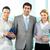 szczęśliwy · partnerów · trzy · ludzi · biznesu · patrząc · kamery - zdjęcia stock © pressmaster