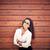 женщину · Солнцезащитные · очки · стены · лице · моде - Сток-фото © pressmaster