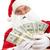 долларов · фото · счастливым · Дед · Мороз - Сток-фото © pressmaster