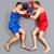 Boxing on the floor stock photo © pressmaster