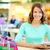 winkelen · dag · portret · glimlachend · jonge · vrouw · genieten - stockfoto © pressmaster
