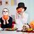 twins with pumpkins stock photo © pressmaster