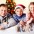 父 · 娘 · 見える · 幸せ · 着用 · サンタクロース - ストックフォト © pressmaster