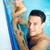 geschikt · zwemmer · zwembad · glimlachend · camera · recreatie - stockfoto © pressmaster