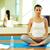 yoga · formación · retrato · sereno · nina - foto stock © pressmaster