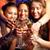 グループ · パーティー · 女の子 · フルート · ワイン - ストックフォト © pressmaster