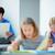 Schoolboy in classroom stock photo © pressmaster