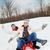 Pareja · retrato · feliz · maduro · equitación · trineo - foto stock © pressmaster